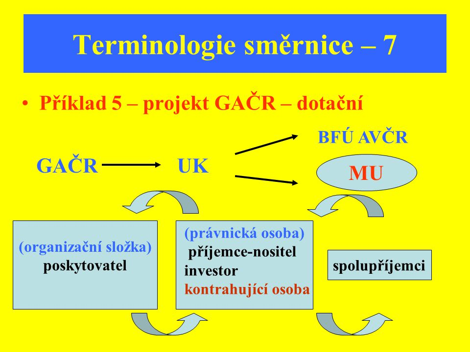 Terminologie směrnice – 7