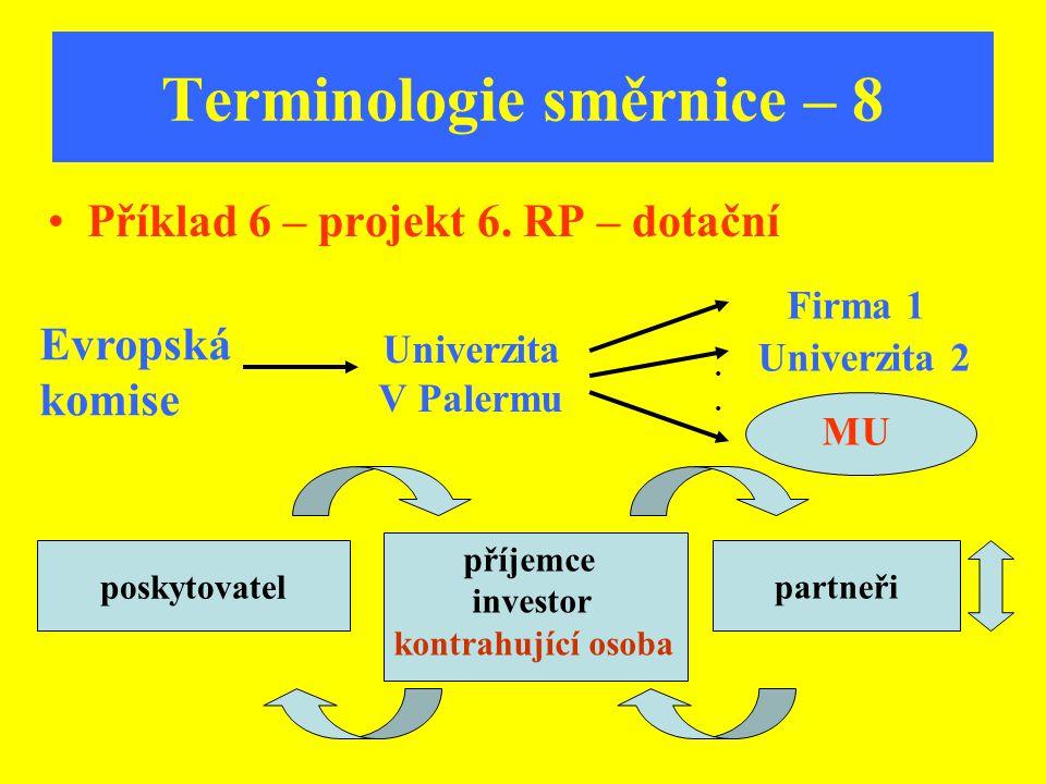 Terminologie směrnice – 8