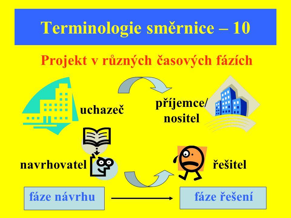 Terminologie směrnice – 10
