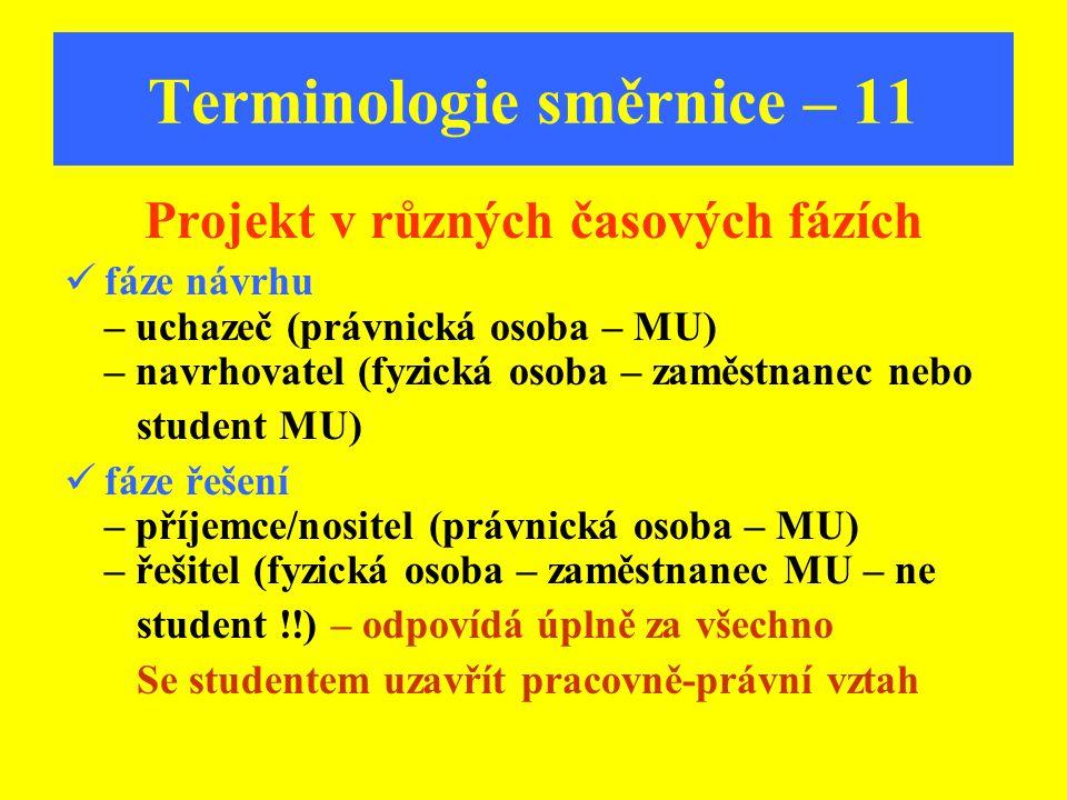 Terminologie směrnice – 11