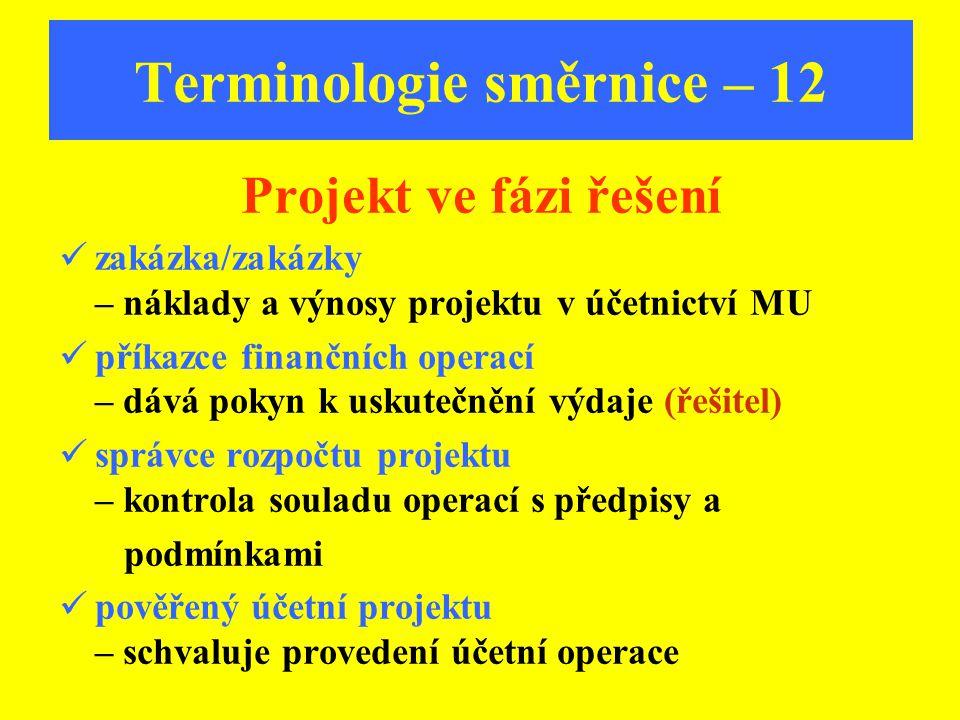 Terminologie směrnice – 12