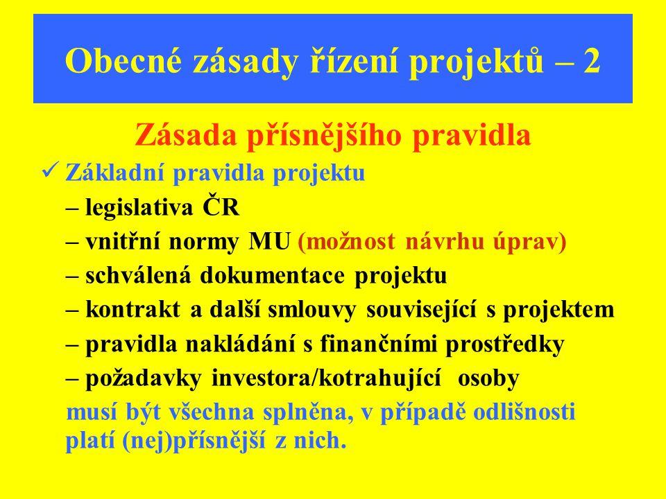 Obecné zásady řízení projektů – 2