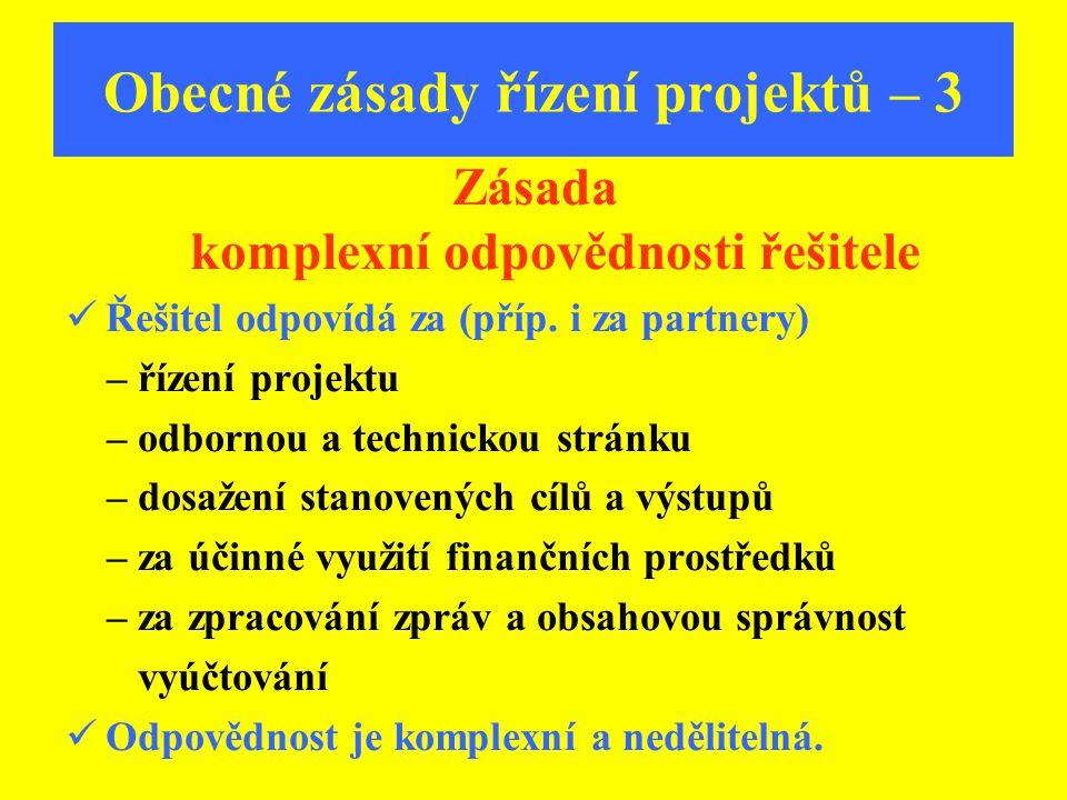 Obecné zásady řízení projektů – 3