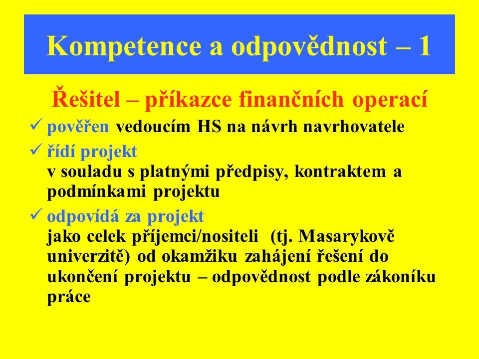 Kompetence a odpovědnost – 1