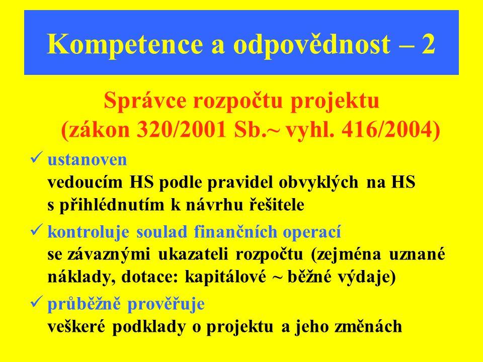 Kompetence a odpovědnost – 2
