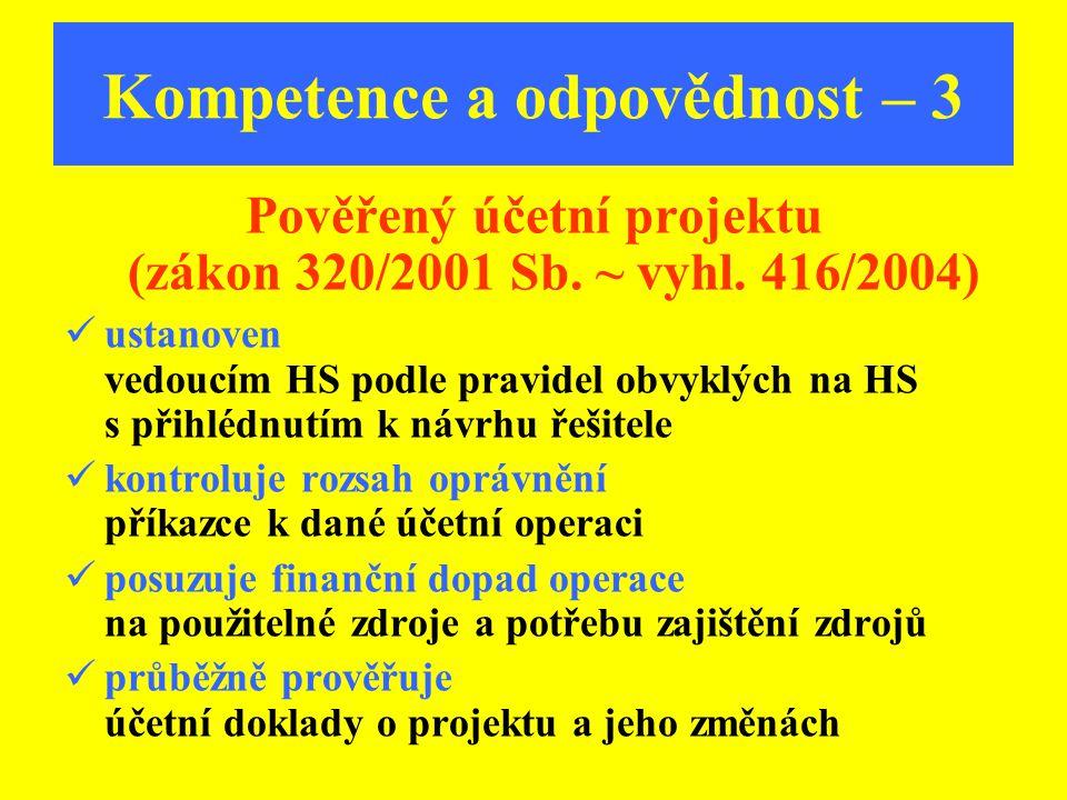 Kompetence a odpovědnost – 3