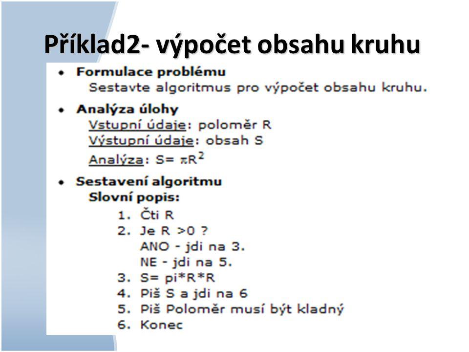 Příklad2- výpočet obsahu kruhu