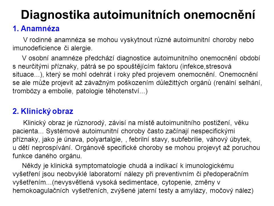Diagnostika autoimunitních onemocnění
