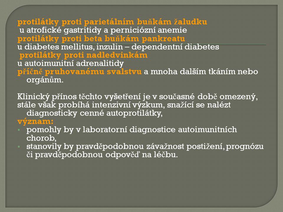 protilátky proti parietálním buňkám žaludku