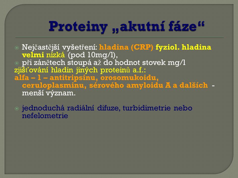"""Proteiny """"akutní fáze"""