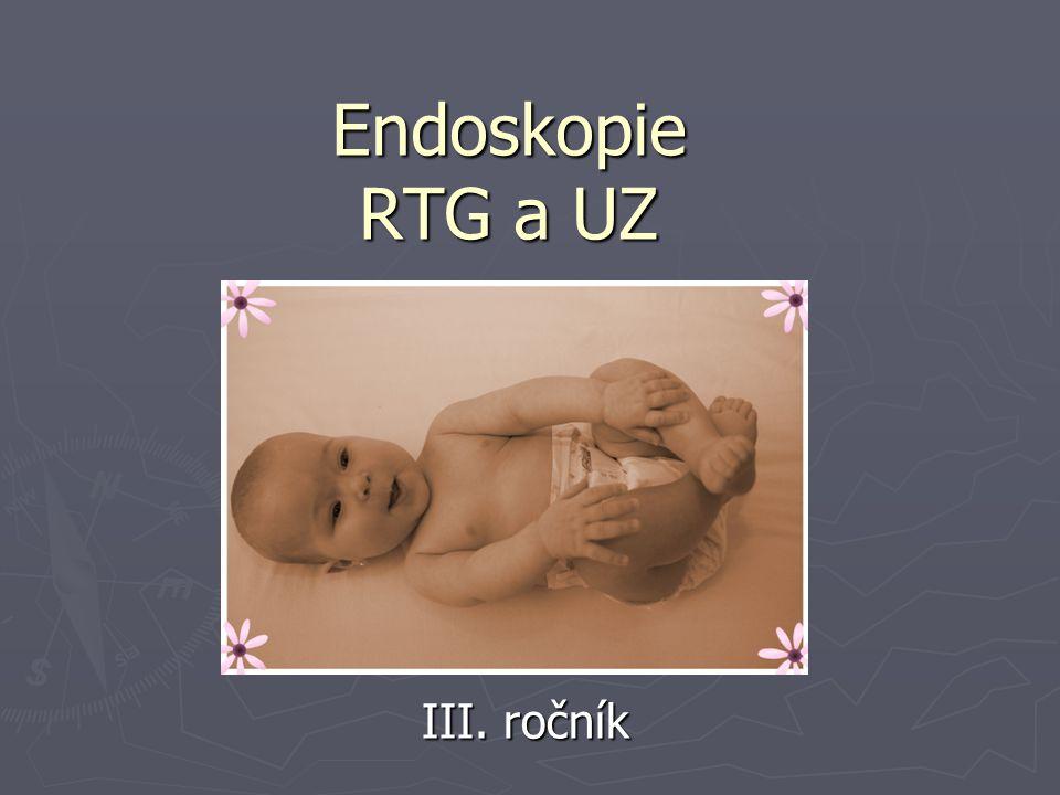 Endoskopie RTG a UZ III. ročník