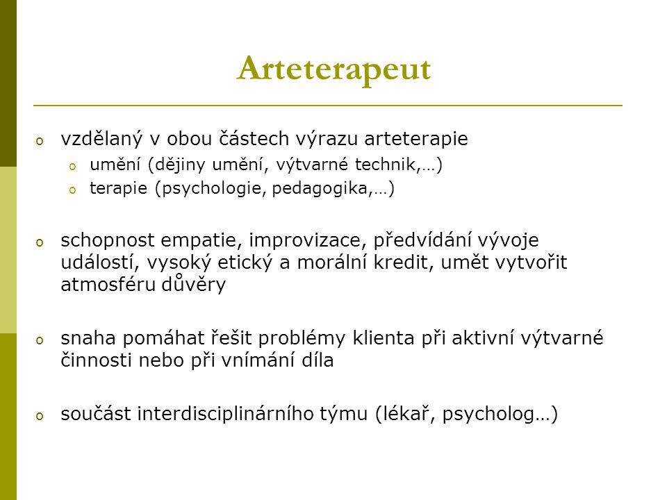 Arteterapeut vzdělaný v obou částech výrazu arteterapie