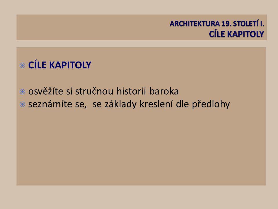 ARCHITEKTURA 19. STOLETÍ I. CÍLE KAPITOLY