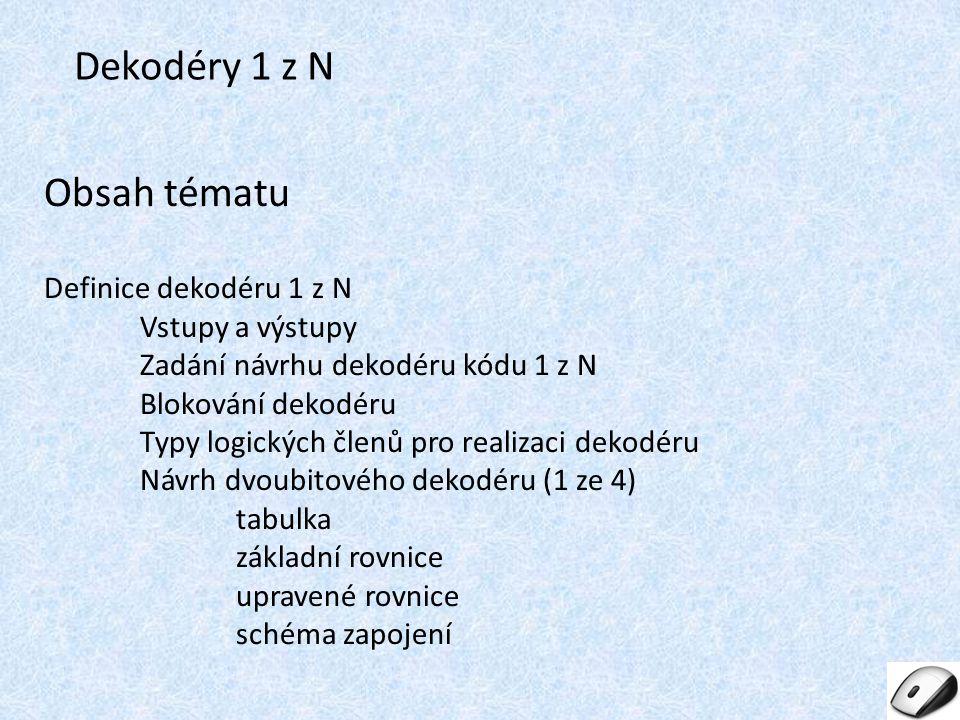 Dekodéry 1 z N