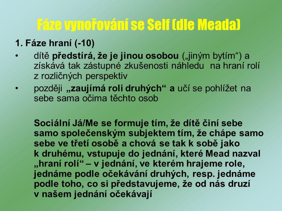 Fáze vynořování se Self (dle Meada)