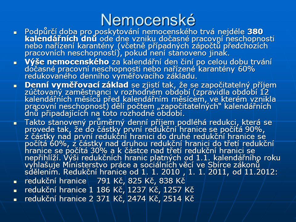 Nemocenské