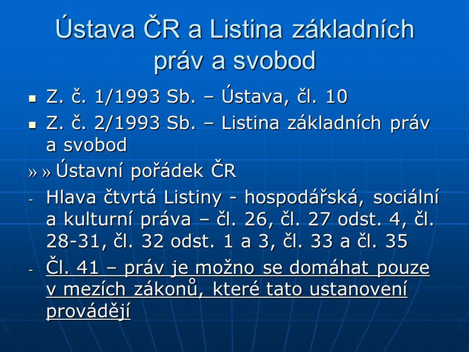 Ústava ČR a Listina základních práv a svobod