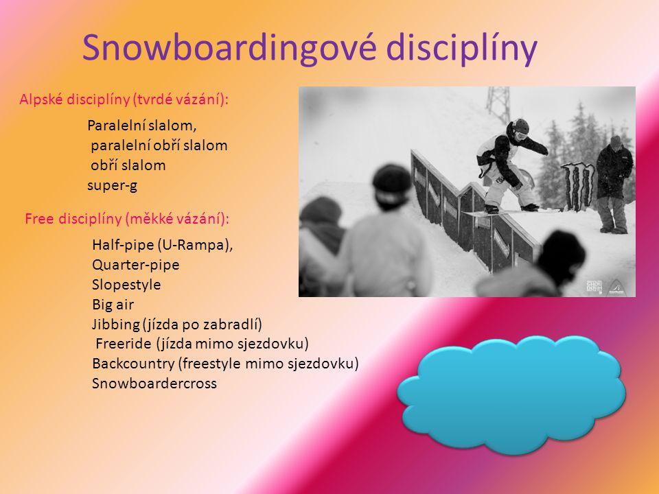 Snowboardingové disciplíny
