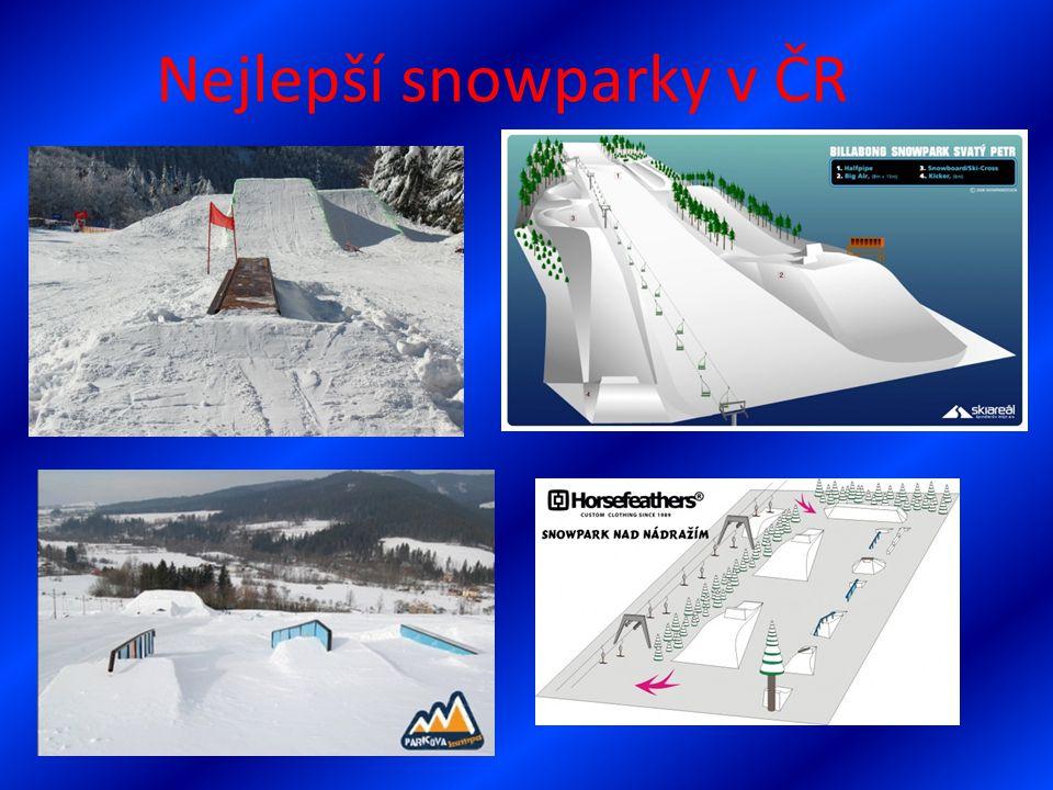 Nejlepší snowparky v ČR