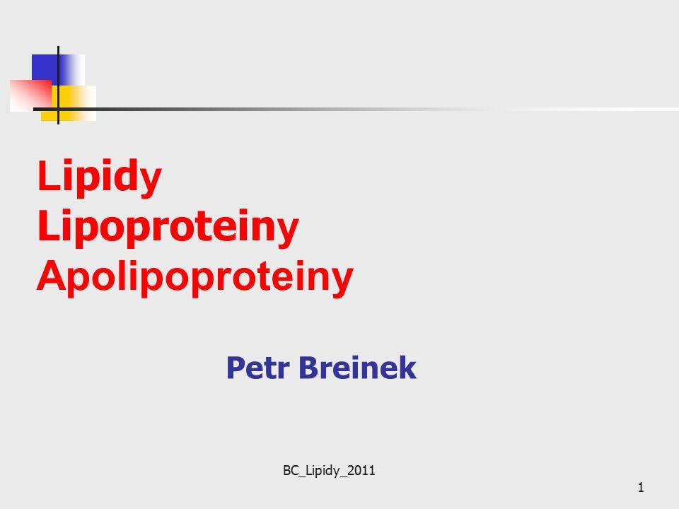 Lipidy Lipoproteiny Apolipoproteiny