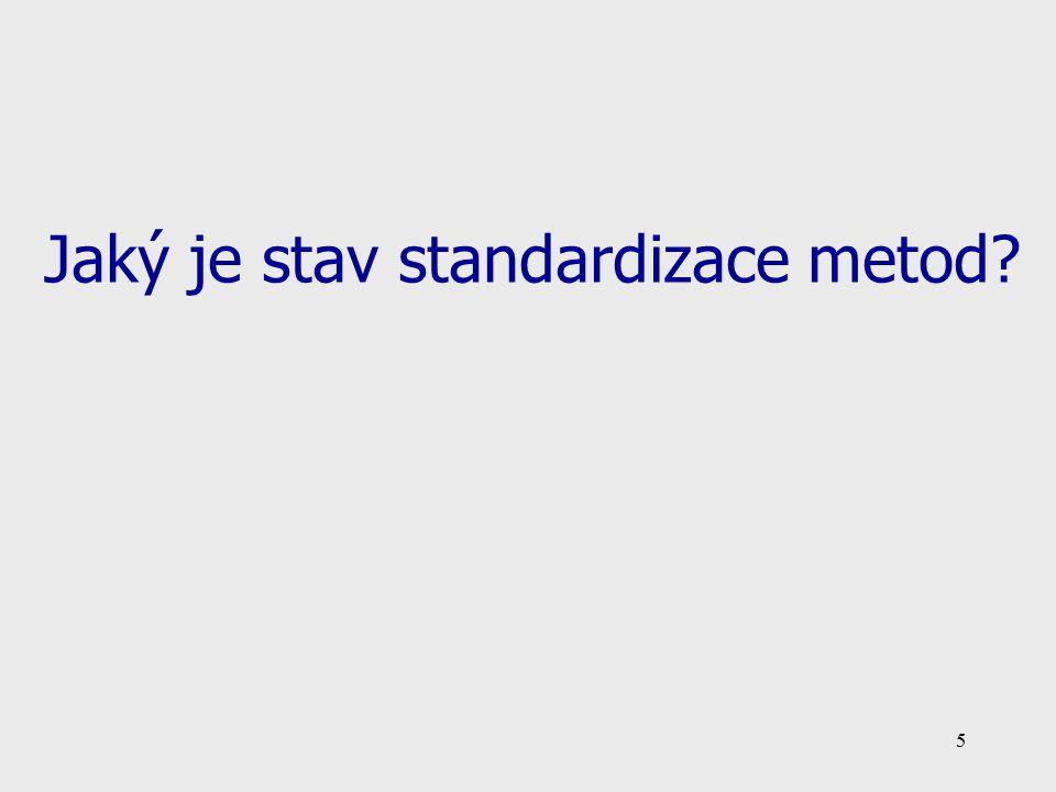 Jaký je stav standardizace metod
