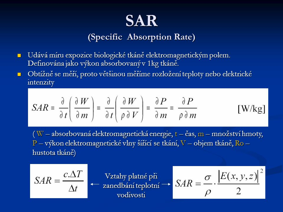 SAR (Specific Absorption Rate)