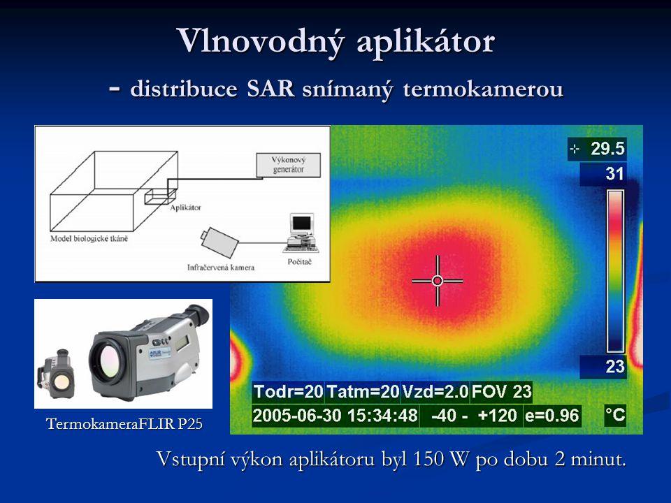 Vlnovodný aplikátor - distribuce SAR snímaný termokamerou