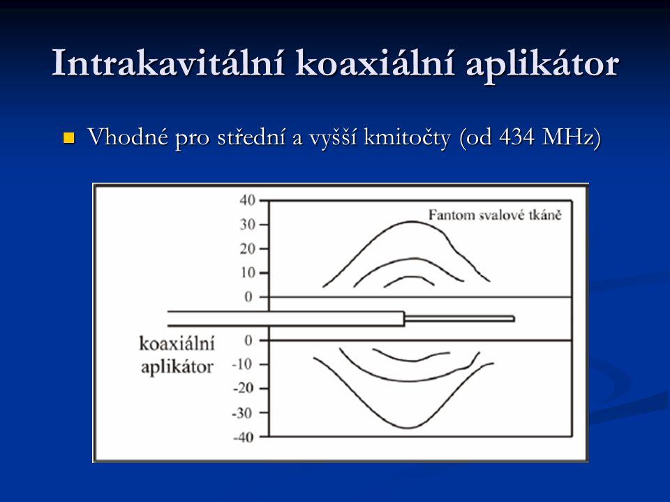 Intrakavitální koaxiální aplikátor