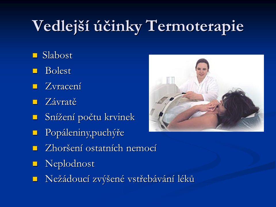 Vedlejší účinky Termoterapie