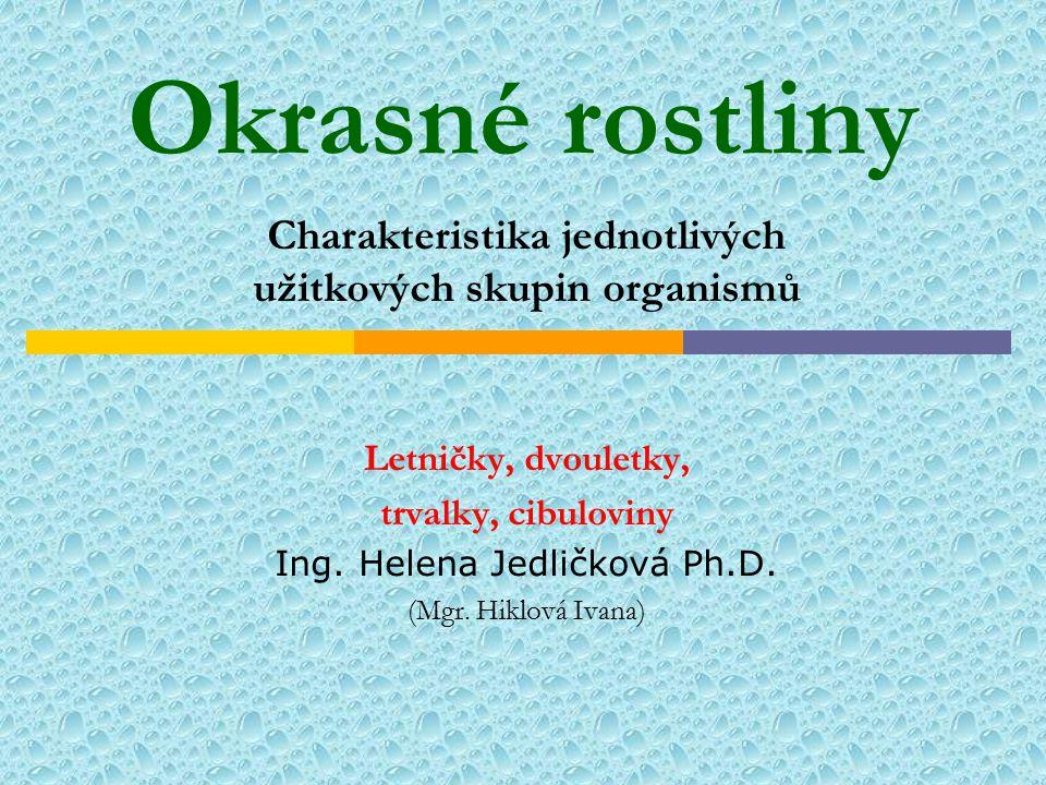 Charakteristika jednotlivých užitkových skupin organismů