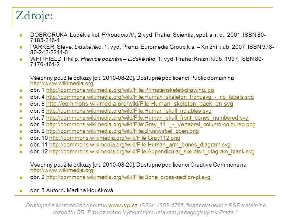 Zdroje: DOBRORUKA, Luděk a kol. Přírodopis III., 2.vyd. Praha: Scientia, spol. s. r. o., 2001. ISBN 80-7183-246-4.