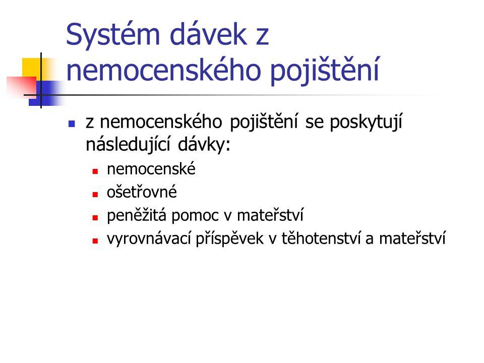 Systém dávek z nemocenského pojištění