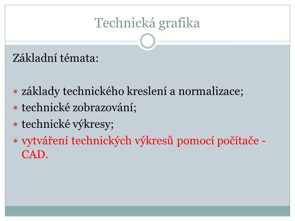 Technická grafika Základní témata: