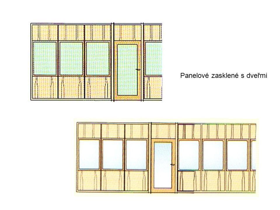 Panelové zasklené s dveřmi