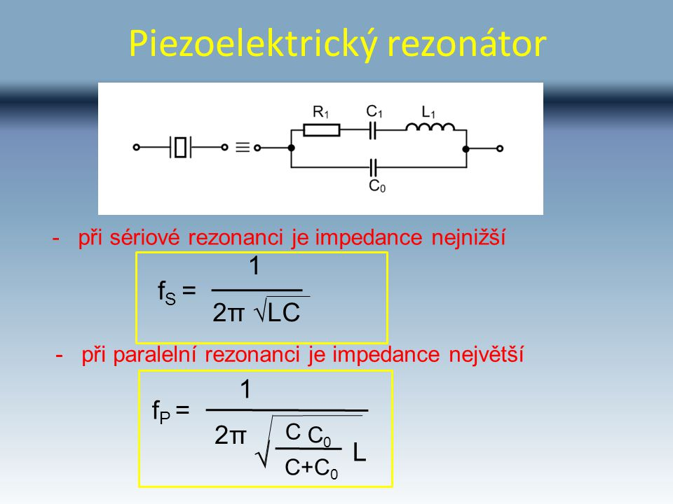 Piezoelektrický rezonátor