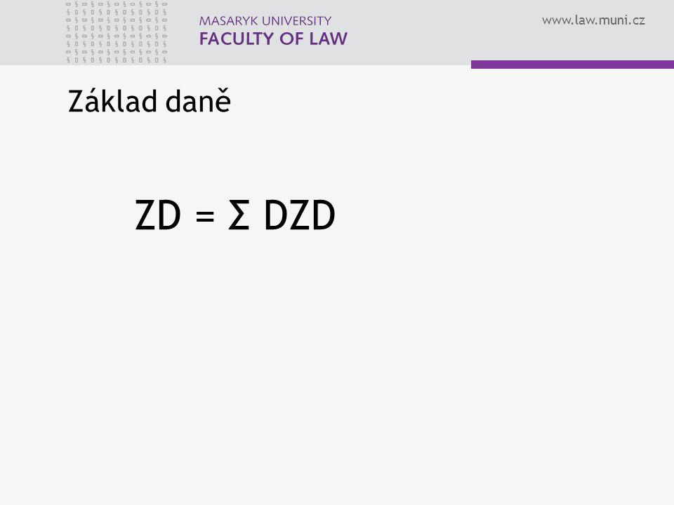 Základ daně ZD = Σ DZD