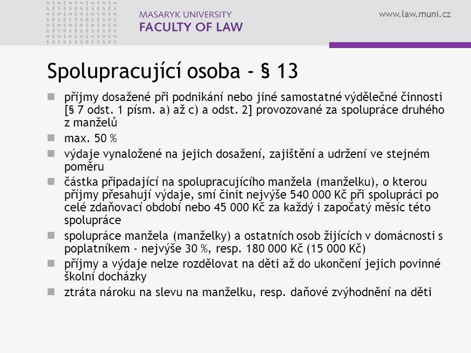 Spolupracující osoba - § 13