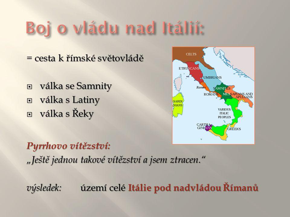 Boj o vládu nad Itálií: = cesta k římské světovládě válka se Samnity