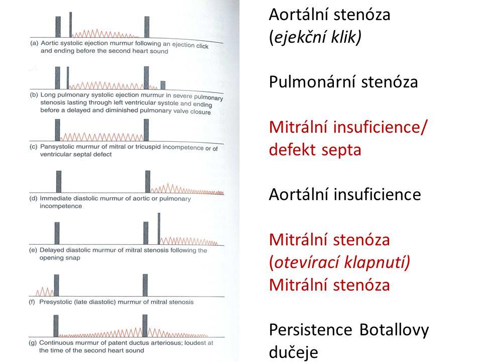 Aortální stenóza (ejekční klik)