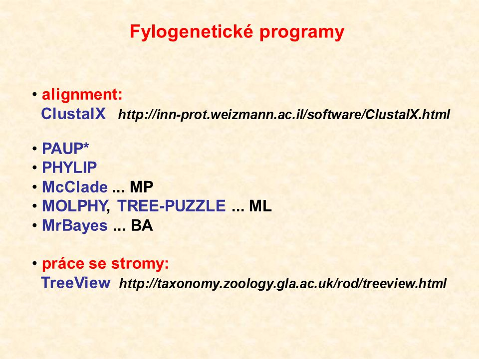 Fylogenetické programy