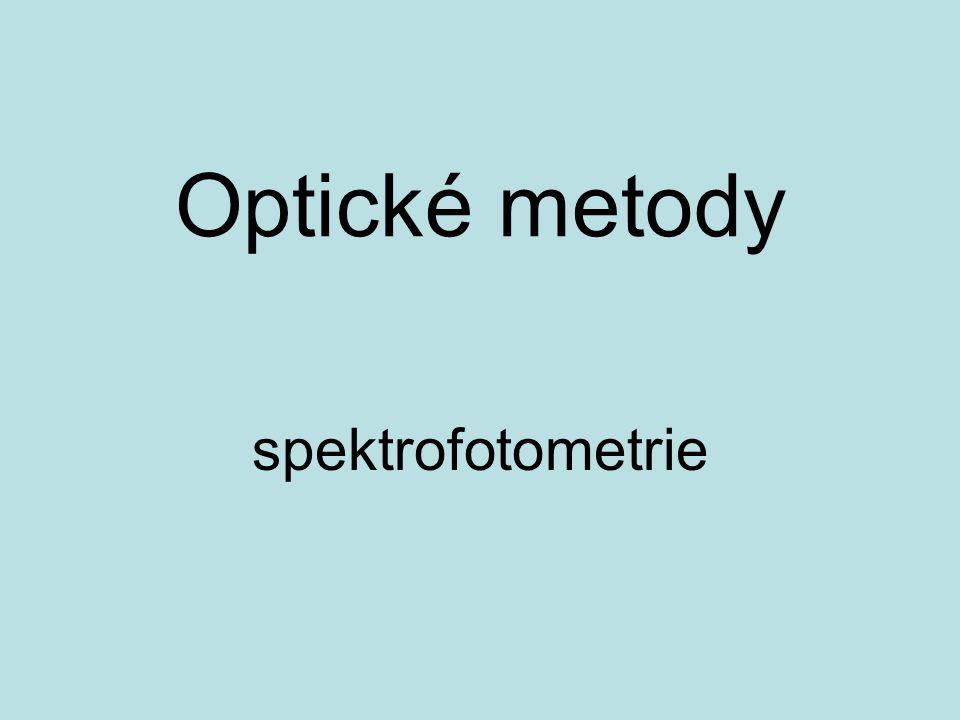 Optické metody spektrofotometrie