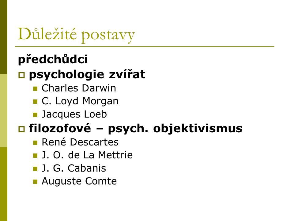 Důležité postavy předchůdci psychologie zvířat