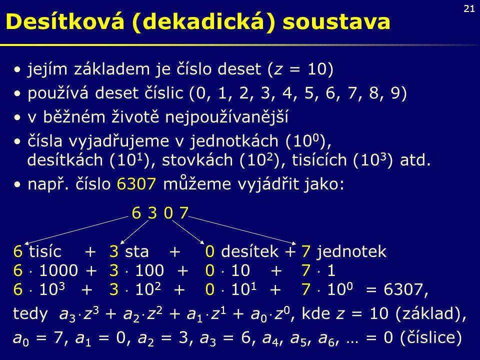 Desítková (dekadická) soustava
