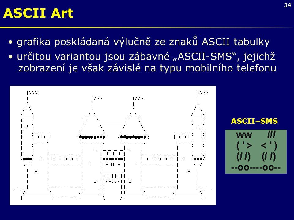 ASCII Art grafika poskládaná výlučně ze znaků ASCII tabulky