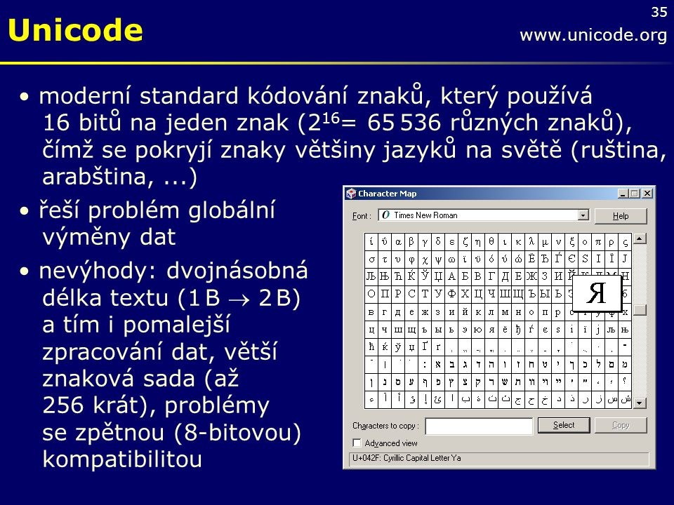 Unicode www.unicode.org