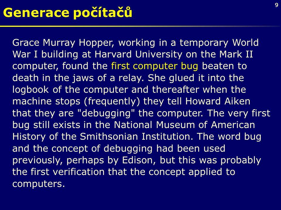 Generace počítačů Grace Murray Hopper, working in a temporary World