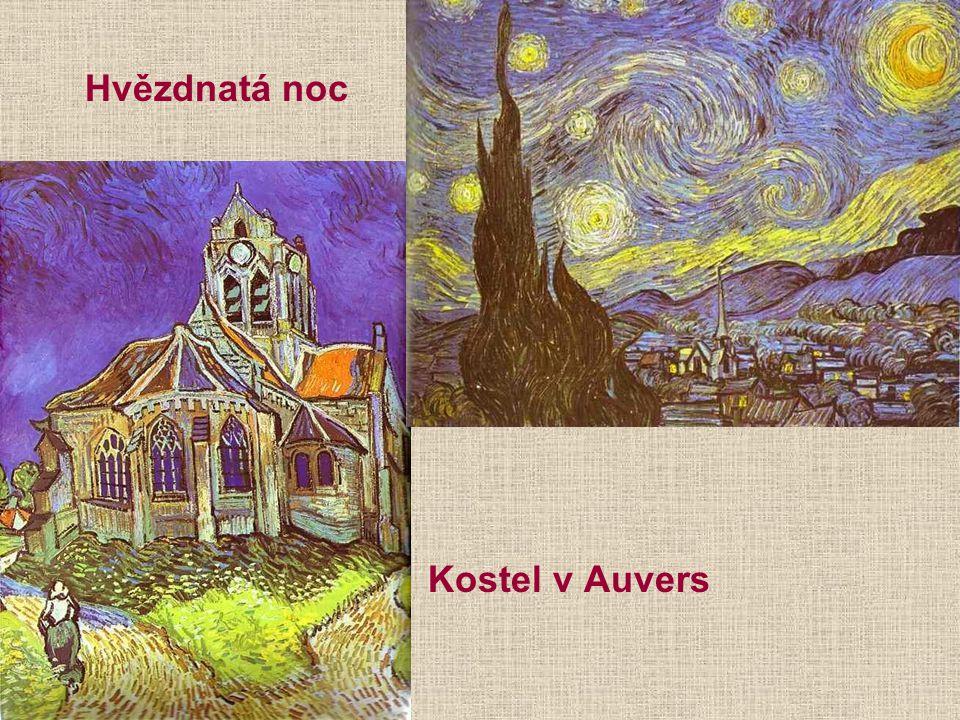 Hvězdnatá noc Kostel v Auvers