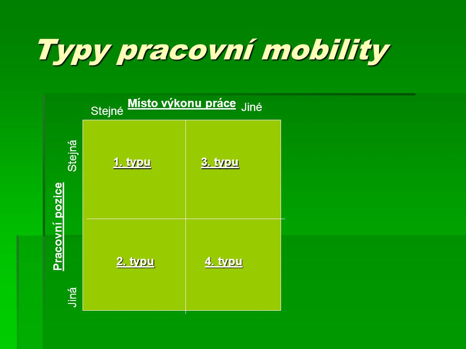 Typy pracovní mobility