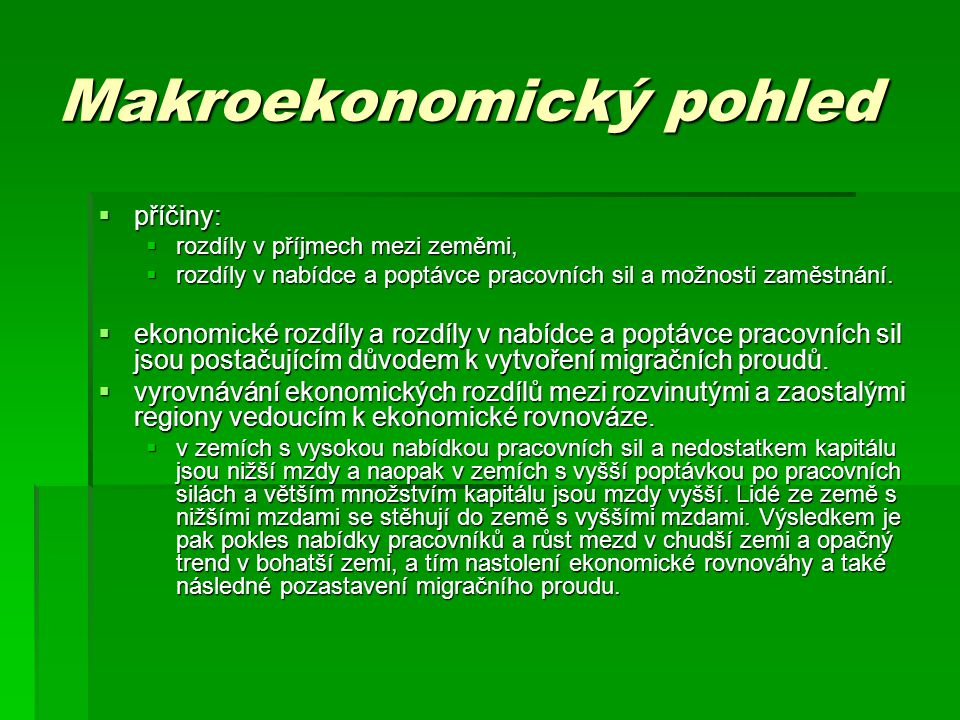 Makroekonomický pohled
