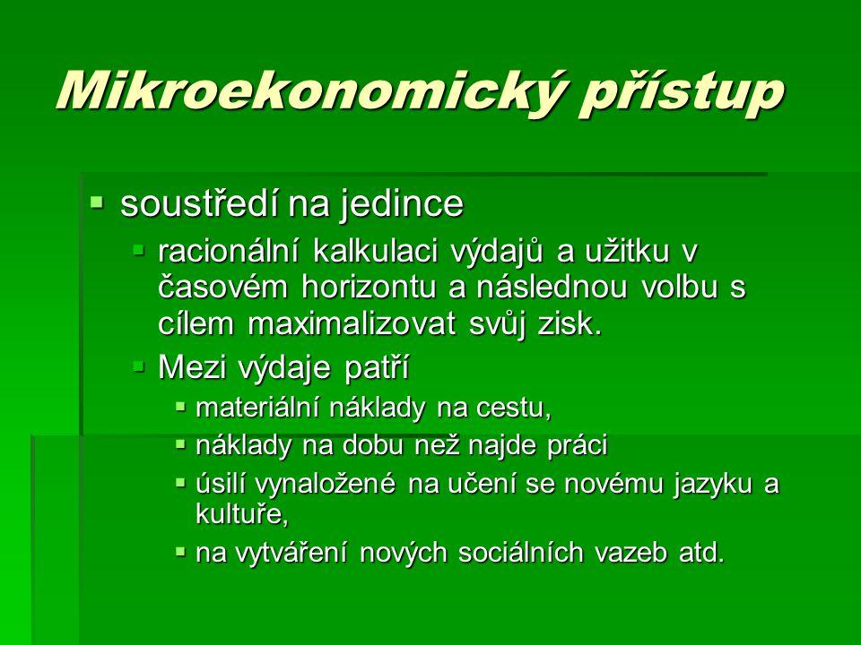 Mikroekonomický přístup